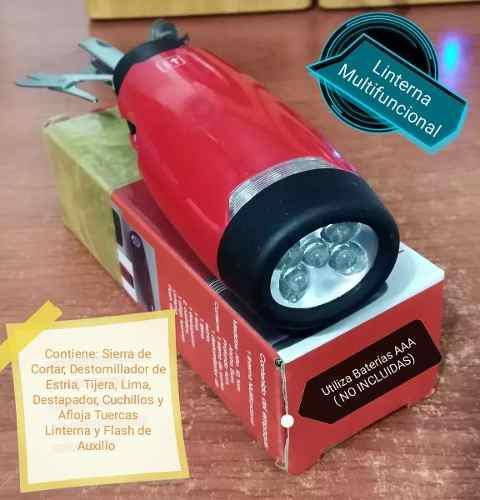 Linterna de mano multifuncional con herramientas 1 verdes
