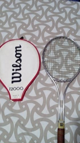Raqueta de tenis wilson t 2000 original con forro 1975