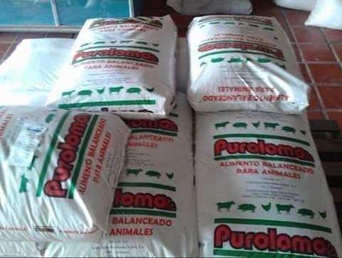 Alimento balanceado para cerdo y pollo purolomo