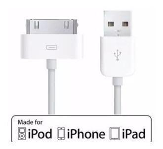 Cable cargador y de datos usb para iphone 4 ipod touch ipad