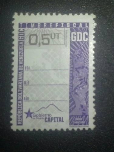 Timbre Fiscal Fiscales 0,5ut Distrito Capital Precio 5 Vrds