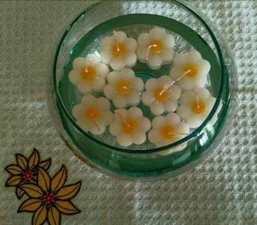 12 velas flotantes y/o decorativas flores