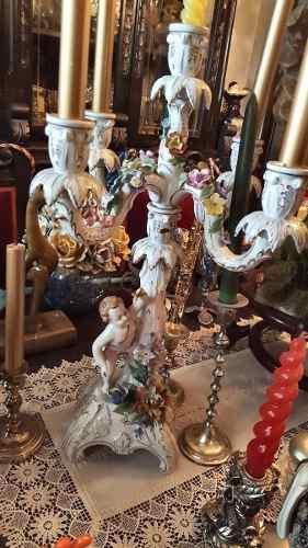 Candelabro porcelana capodimonte