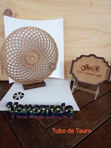 Geometrías sagradas piezas figuras corte láser madera mdf