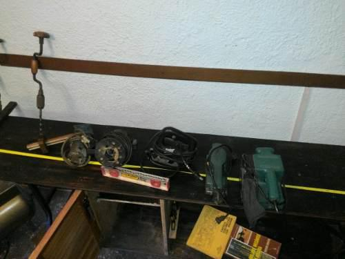 Herramientas de carpinteria lijadora barbiquin sierra trompo