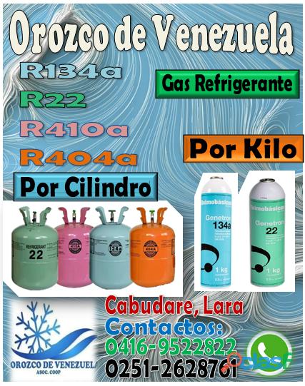 VENTA DE GAS REFRIGERANTE AL MAYOR Y DETAL PARA:Nevera, AIRES, Cava cuarto, Refrigeradores y Carros