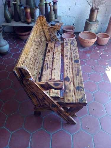 Mesa convertible banco de madera comedor de pino