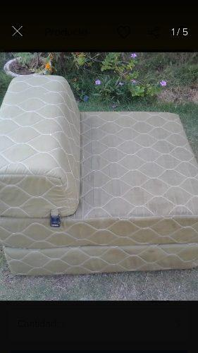 Poltrona sofá cama individual color verde aceituna
