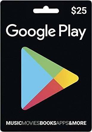 Tarjetas google play -music -games -aplicaciones -saldo