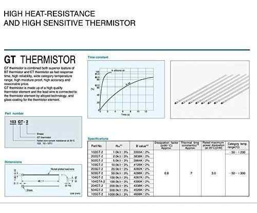 Gikfun ohmio ntc atc semitic gt termistor impresora