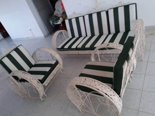 Muebles vintage tipo balancín para jardin 3 piezas