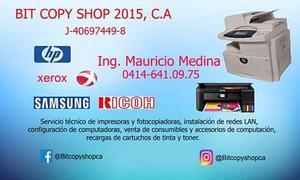 Reparación de impresoras, fotocopiadoras y computadoras en