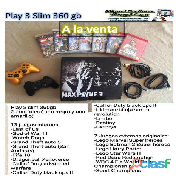 Play 3 slim 360 gb