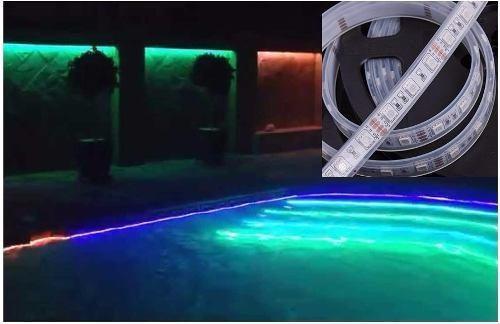 Luz cinta led 5mts rgb multicolor sumergible para piscinas