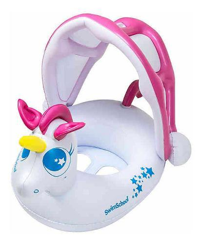 Flotador inflable salvavidas niños unicornio piscina ccs