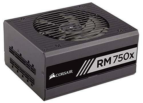 Fuente poder corsair rmx rm750x, 750w, modular gold 80+ cert