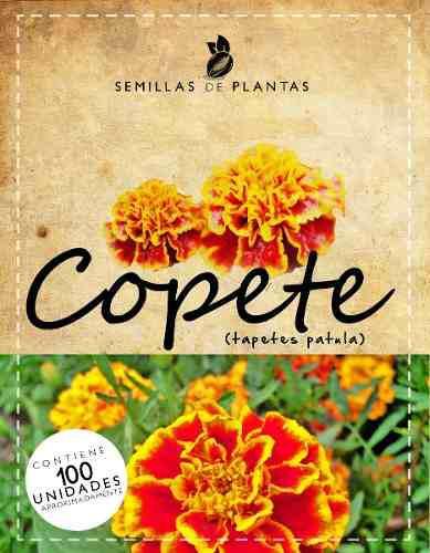 Sobre de semillas de flores de copete rojas o amarillas