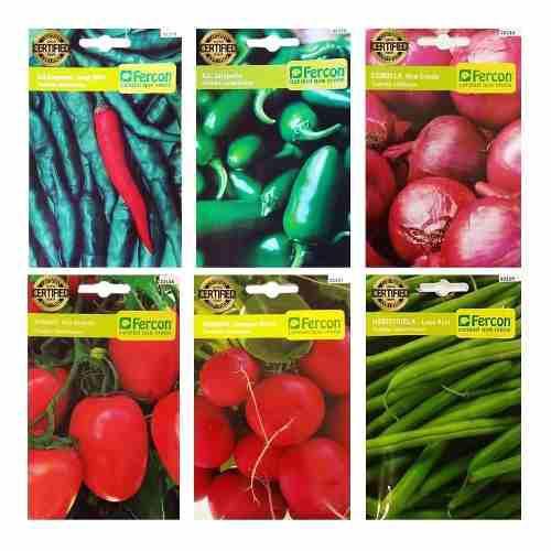 Sobre de semillas de hortalizas importadas fercon