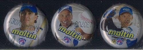 Chapas serie beisbol lider 2007(cabrera,vizquel y ordoñez)