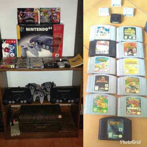 Nintendo 64(consolas controles juegos y memorias) rremaatte