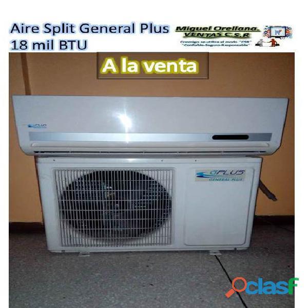 Aire acondicionado split general plus 18 mil btu