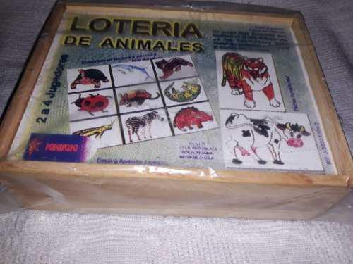Juego didactico loteria de animales
