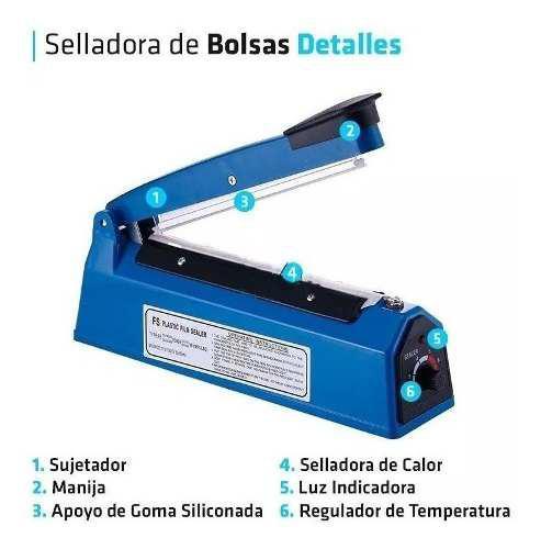 Selladora bolsas plasticas electrica 300mm sella corta 30cm