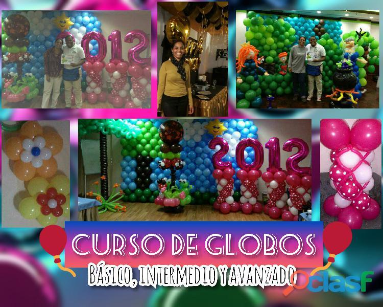 Cursos en decoracion con globos