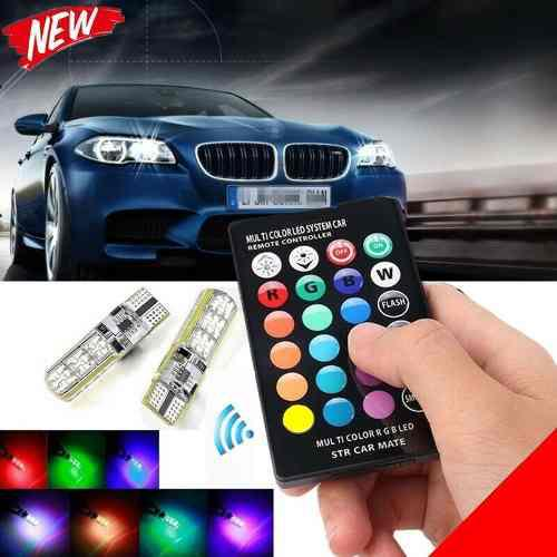 Kit de muelitas led t10 multicolor rgb con control lecheria