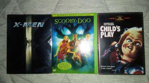 Colección Peliculas X-men Chucky Scooby Doo