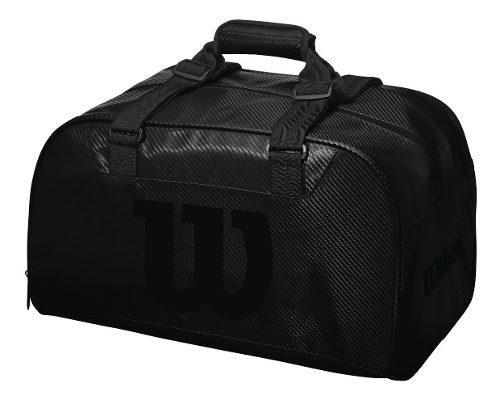 Bolso para gimnasio o tenis wilson duffel bag negro