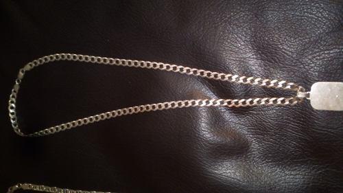 Cadenas de plata, esclava y anillos para caballero