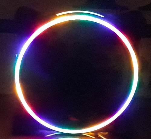 Fan cooler gaming led arcoiris 12x12 ventilador pc