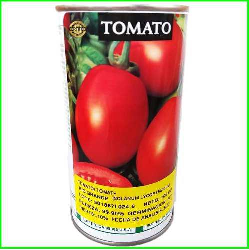Semillas de tomate rio grande lata 100 gramos certificadas