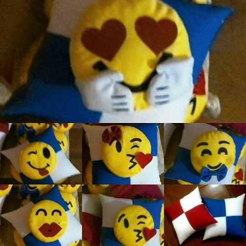 3 cojines emojis / peluches emoticones whatsapp y mucho mas