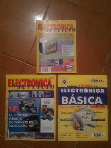 3 Revistas Curso Electronica Buen Estado