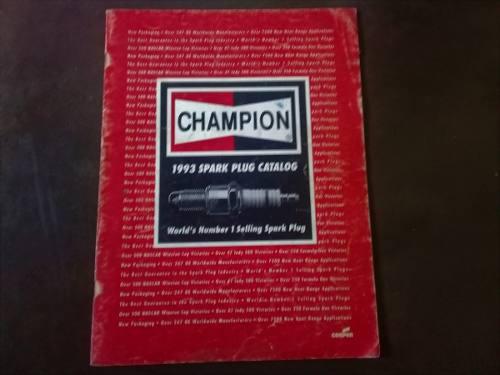 Catalogo 10 bujías champion edición 1993