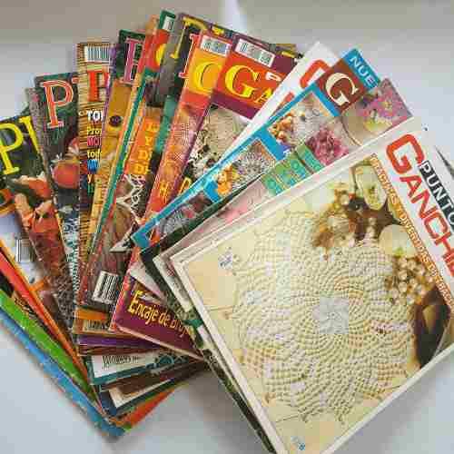 Colección revistas crochet, punto rama, ganchillo artistico