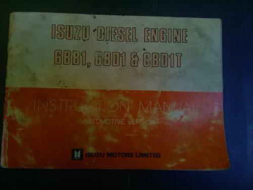 Libro Manual Instrucciones 20 Motor Isuzu 6bb1 6bd1 6bd1t