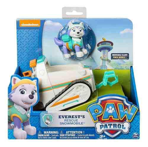 Paw patrol everest vehículo y figura de acción original
