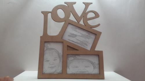 Portaretrato amor amistad familia en mdf corte laser