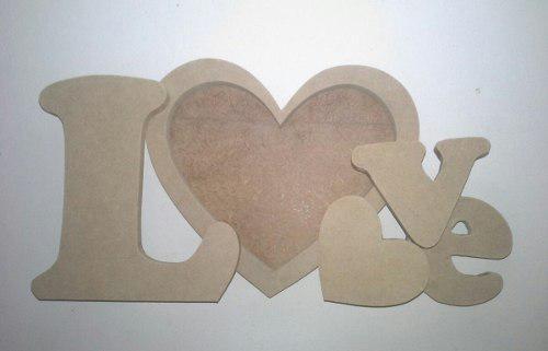 Portaretrato letras love mdf crudo