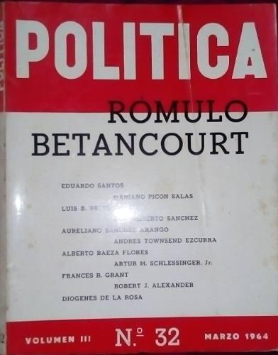 Revista política, edición testimonial a romulo bentacourt,