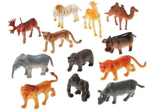 Set animales juguetes niños 36 piezas variadas jungla selva