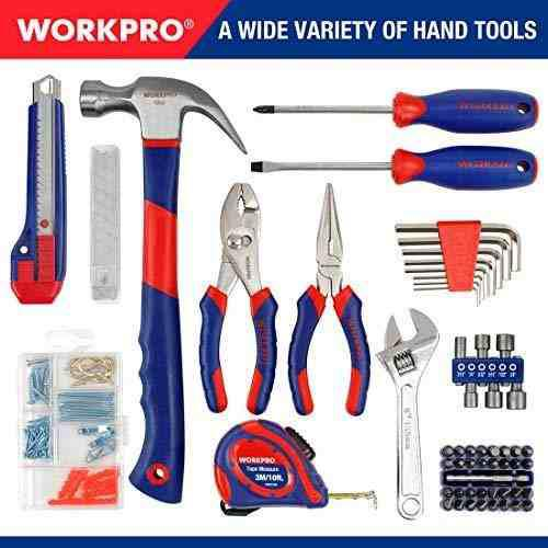 Workpro kit herramienta para hogar taladro inalambrico