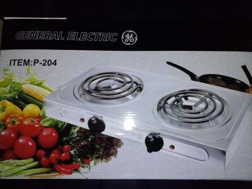 Cocina eléctrica general electric 2 hornillas 2000w