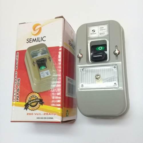Interruptor 602 superficial 220 v tipo ticino marca semilic