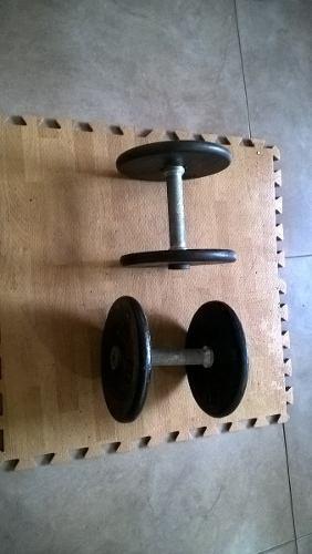 Mancuernas pesas gimnasio 20 lbs c/u