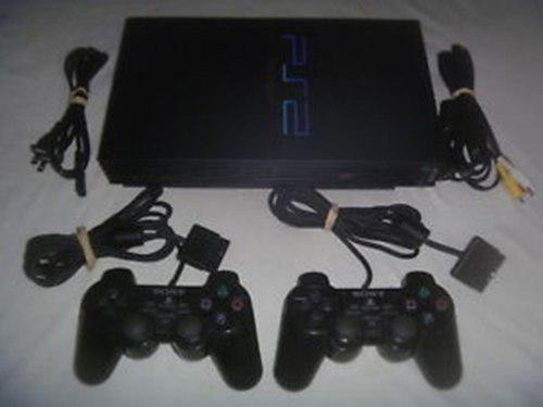 Playstation 2 fat modelo 30001 y2 controles repuesto20verdes