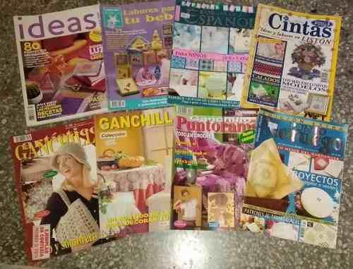 Revistas labores, ganchillo artistico, puntorama, cintas